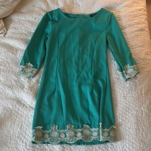 Size Xs green and gold dress